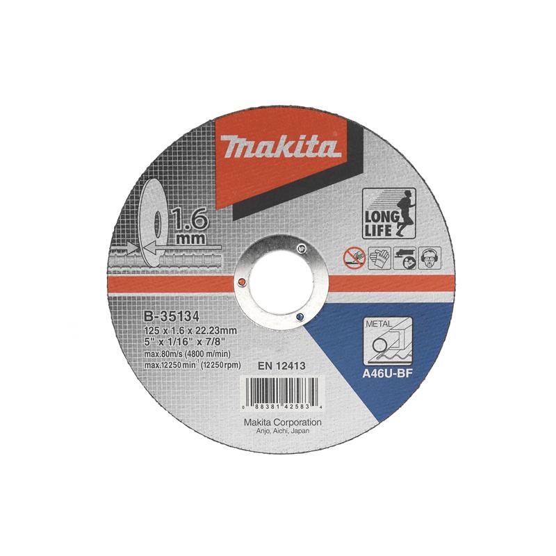 Makita Doorslijpschijf staal 125x22,23x1,6mm B-35134